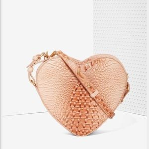 New Heart Shaped Crossbody Peach